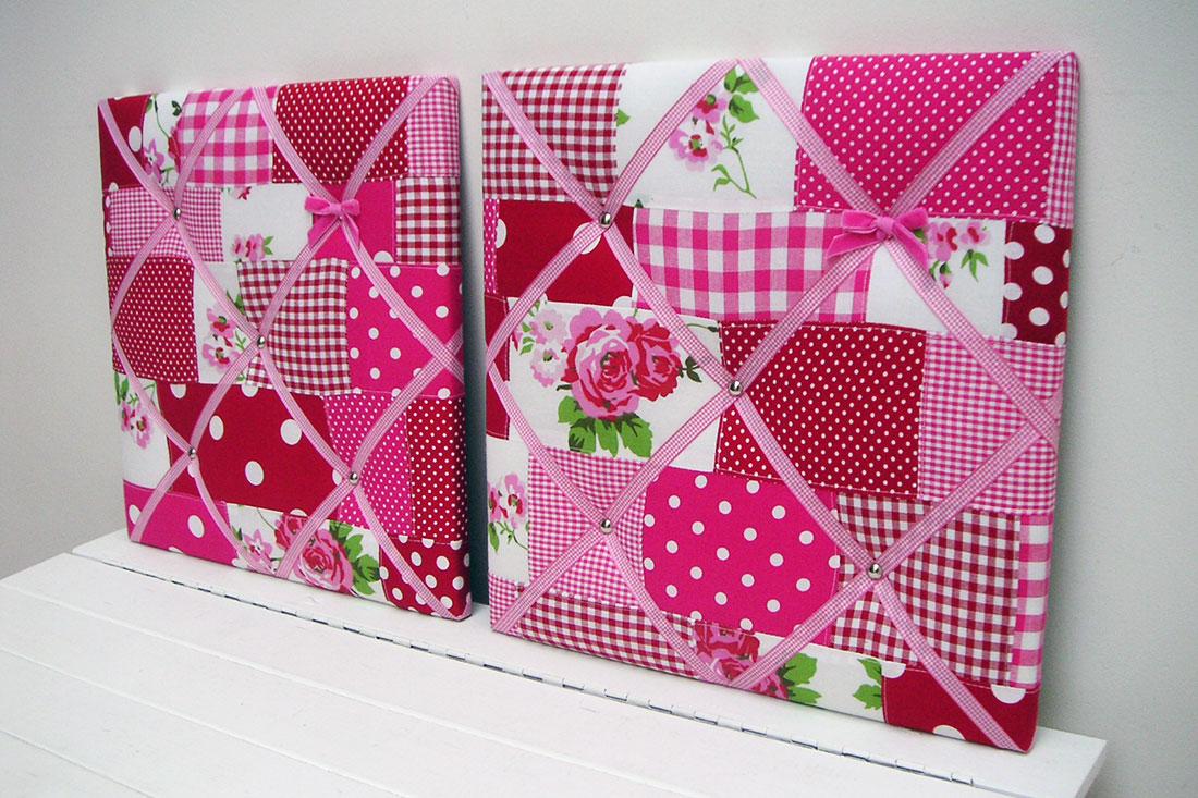 Memobord-gestoffeerd-roze-patchwork-Nomaji-1